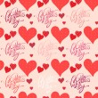 Red heart, valentine's day background — Vettoriale Stock #41210287