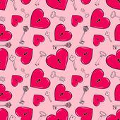 Heart and keys — Stock Vector