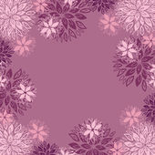 Floral background with place for your text — Stock Vector
