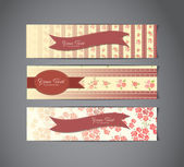 Vintage banners — Stock Vector