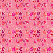 "Words ""i love you"" on pink background — Stock vektor"