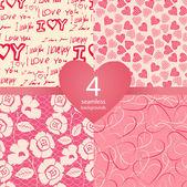 粉红色的无缝背景 — 图库矢量图片