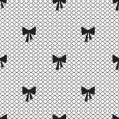 Ročník krajky pozadí, malé luky — Stock vektor