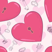 Heart and keys — Vector de stock