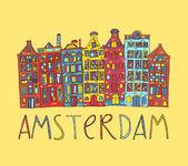 Amsterdam, vektorové karta — Stock vektor