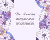 Floral watercolor border — Vector de stock