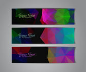 Abstract banners collection — Stock Vector