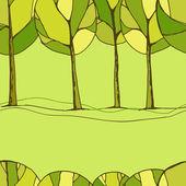 装飾的な木の背景 — ストックベクタ
