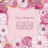 Květinové akvarel hranice — Stock vektor
