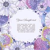 Floral aquarel grens — Stockvector
