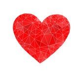 Red heart abstract — 图库矢量图片