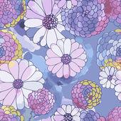бесшовные векторные цветочные текстуры — Cтоковый вектор