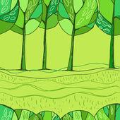 Decorative trees background — Stock Vector