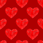 Seamless background with hearts. — Stock Vector