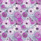Seamless vector floral texture — Stock Vector