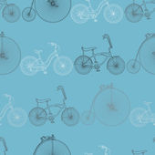 Seamless bicycle background — Stock Vector