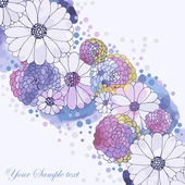 Watercolor floral background — Stok Vektör