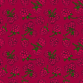 Seamless pattern  of berries — Stock Vector