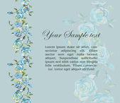 Floral watercolor border — Stok Vektör