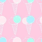Zmrzlina bezešvé vzor — Stock vektor