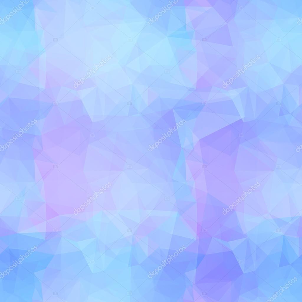 蓝色无缝三角形抽象图案.矢量图–