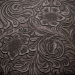 Background with Floral Engraved Leather — 图库照片