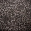 Background with Floral Engraved Leather — Stockfoto