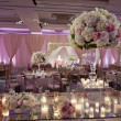 Beautifully decorated wedding ballroom — Stock Photo #31026133