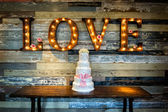 Wedding Cake with Love — Stock Photo