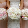 Stock Photo: Brides and bridesmaids wedding bouquets