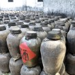 Clay jars of wine - Stock Photo