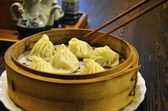 Little steamed stuffed buns — Stock Photo