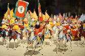 Army and horses of the three kingdoms period — Stock Photo