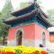 Stock Photo: North imperial tablet pavilion in Dajuesi temple, beijing, china