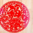 "Happy Chinese New Year symbols: Chinese character ""fu"" for fortune, happiness and good luck — Stock Photo #40063465"