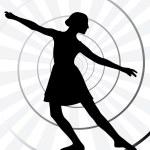 Ballerina motion — Stock Vector