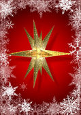 Estrellas y copos de nieve — Foto de Stock