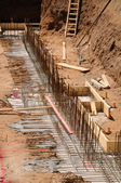 Construction site foundation — Stock Photo