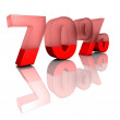 Stock Photo: Seventy percent
