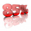 Stock Photo: Eightyfive percent