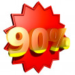 Stock Photo: Ninety percent