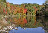 Grand River Fall Reflection — Stock Photo