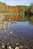 Grand River Autumn Reflection — Stock Photo