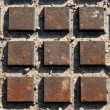 Lots of Rusted Squares — Stock Photo