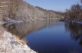 Grand River Snow — Stock Photo