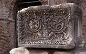 Ancient Roman Decorated Stone Block — Stock Photo