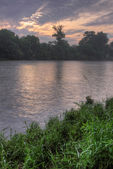 Grand River HDR Morning — Stock Photo