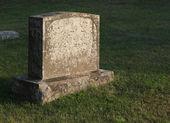 Sun-cast Tombstone — Stock Photo
