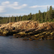 Stock Photo: Otter Cliffs Dawn Panorama
