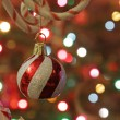Candy Cane Tree Bauble — Stock fotografie